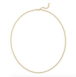 TSC - 18K Extra Small Oval Chain - 24""