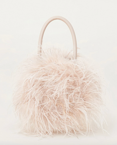 Loeffler Randall - Zadie Feather Bag - Oyster/Silver