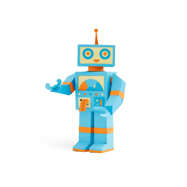 Robot Paper-craft Kit with Reflection: Theme: Uniquely Wired