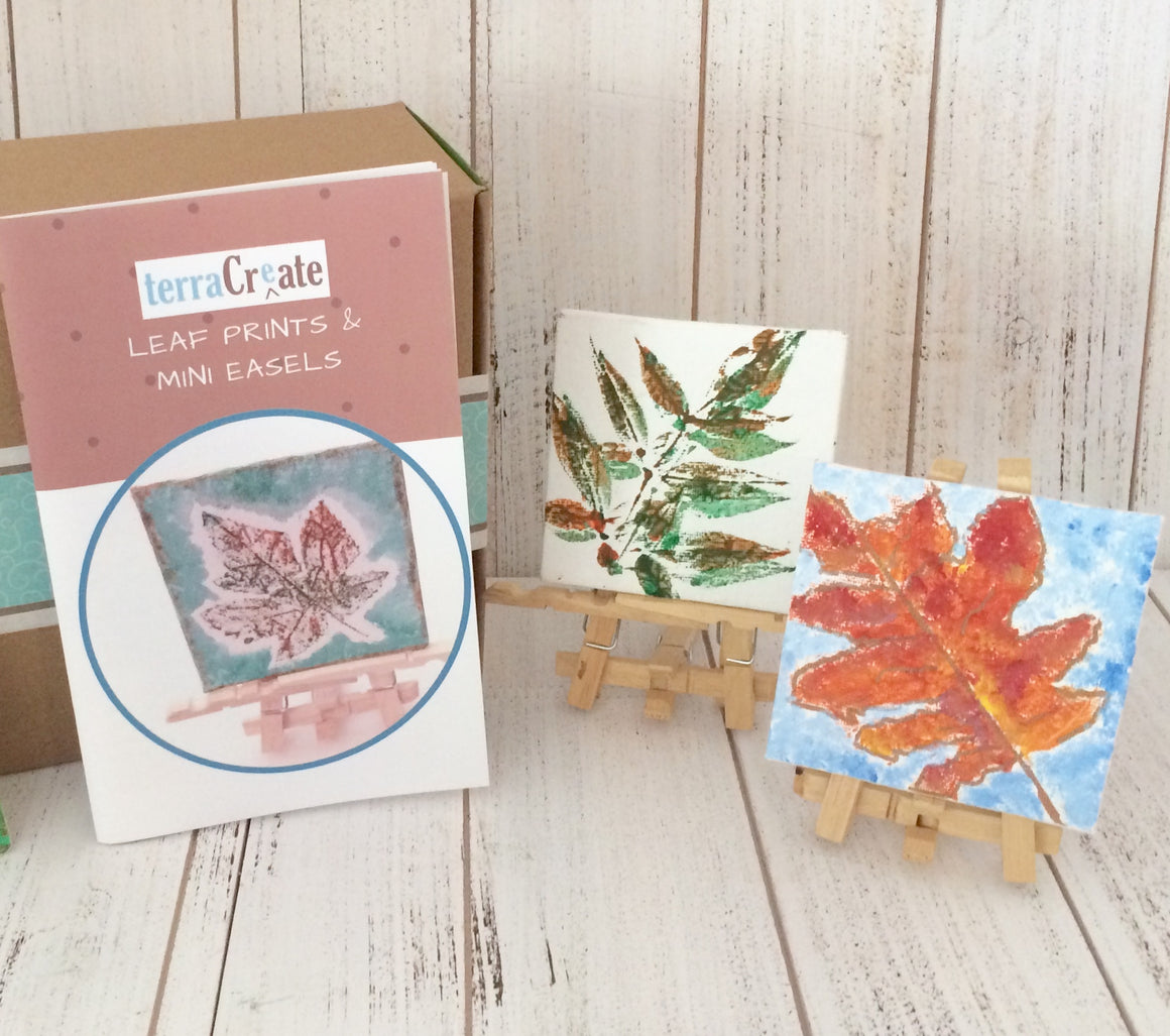 Leaf Print & Mini Easels Kit
