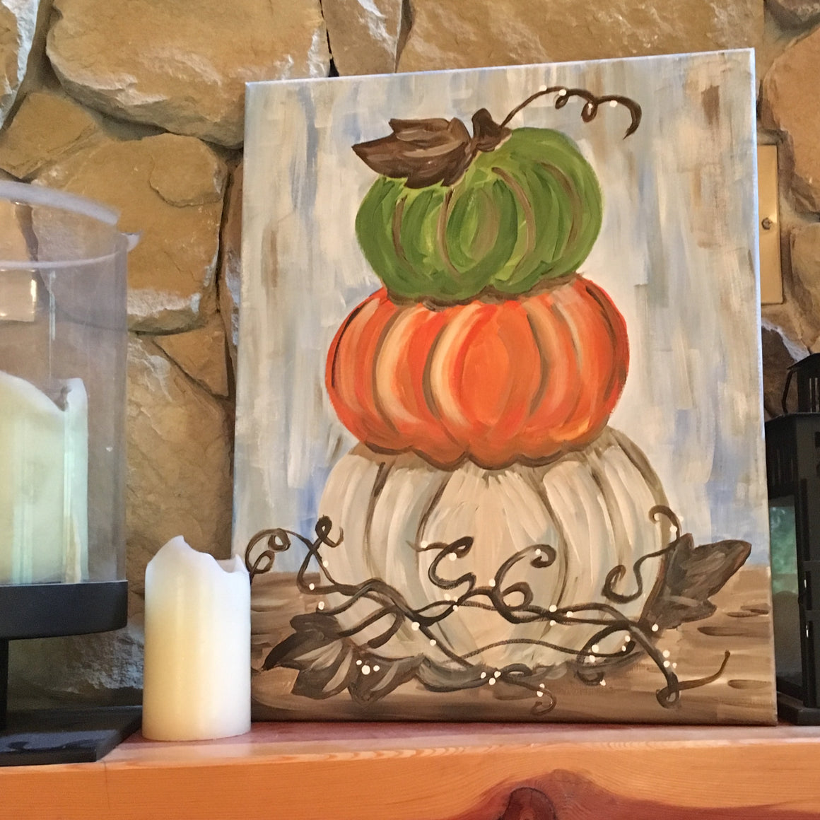 DIY Paint Set - Stacked Pumpkins