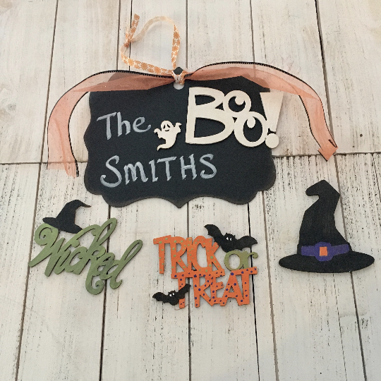 DIY Halloween Magnetic Sign