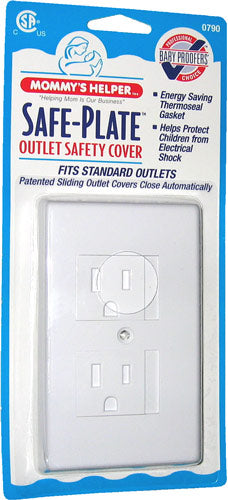 Safe-Plate Outlet Cover