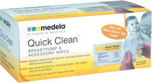 Quick Clean Breastpump / Accessories Wipes - 40 ct