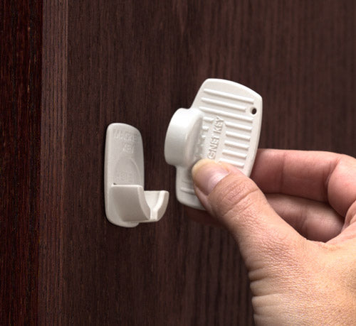 Adhesive Mount Magnet Lock - Key Set