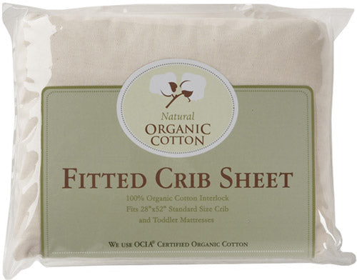 ABC Organic Cotton Interlock Fitted Crib Sheet