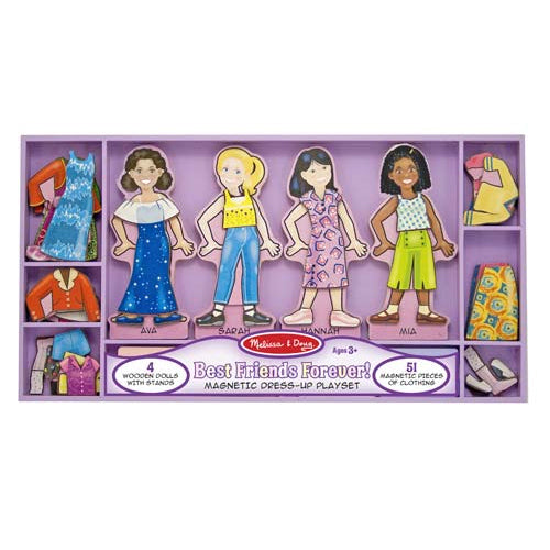 Best Friends Forever! Magnetic Dress-up