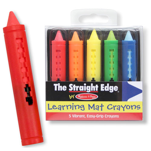 The Straight Edge Learning Mat Crayons
