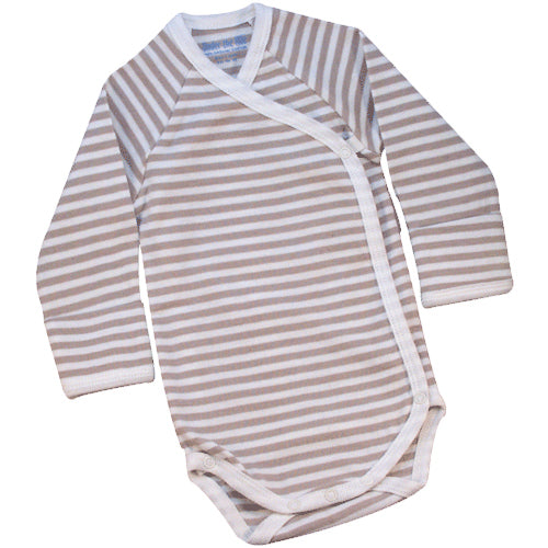 Nature's Nursery Long Sleeve Side Snap Babybody