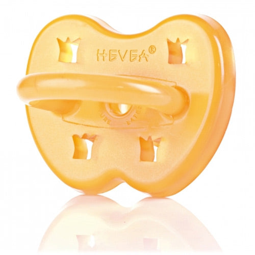 Hevea Natural Rubber Round Pacifier - 0-3m