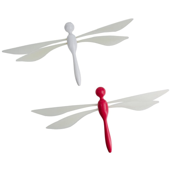 Fli Ceiling-Mounted Dragonfly Mobile 2 Pack - Watermelon/Coconut