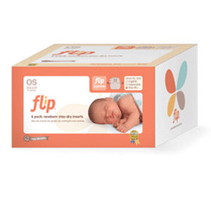 bumGenius Flip Newborn Stay-Dry Reusable Inserts - 6pk