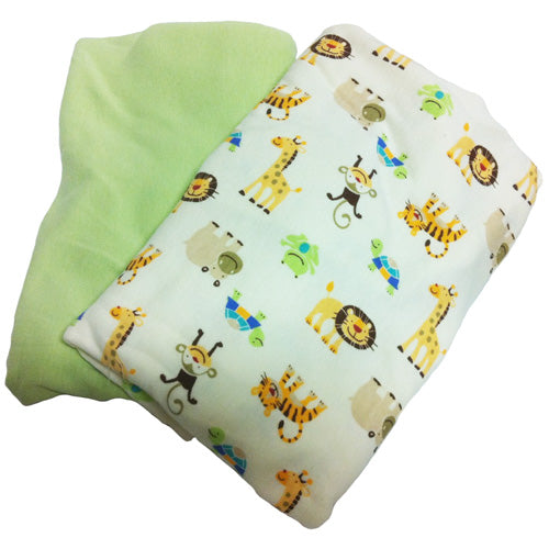 Swaddleme Organic Cotton 2 Pack - Zoo / Sage