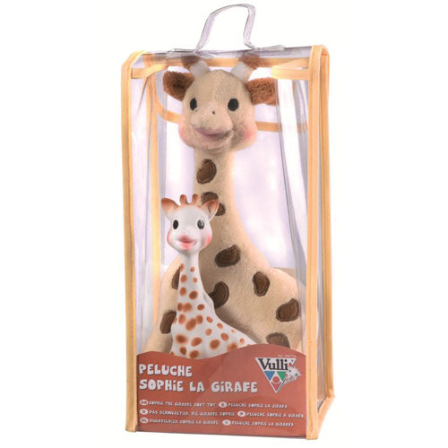Sophie the Giraffe Set: Soft toy + latex toy