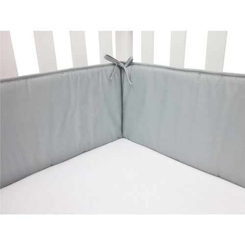 ABC 100% Cotton Percale Crib Bumper - Solid Gray