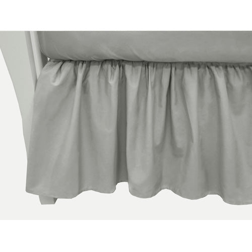ABC 100% Cotton Percale Crib Dust Ruffle