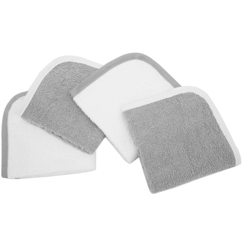 ABC 100% Organic Cotton Washcloths - 4pk