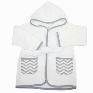 ABC 100% Organic Cotton Terry Baby Bathrobe