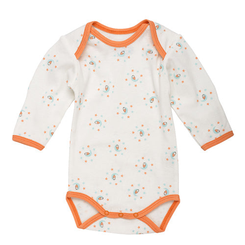 Long Sleeve Babybody - Sky Print