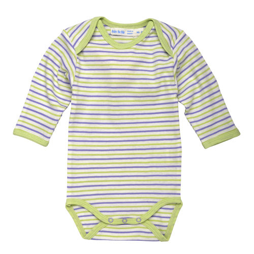 Long Sleeve Babybody - Lilac Stripe