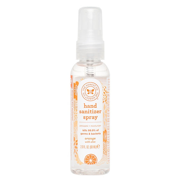 Honest Hand Sanitizer Spray - Orange with Aloe (2oz)