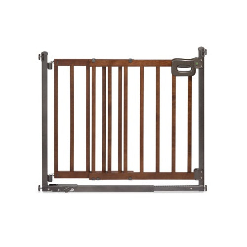 Step to Secure Wood Walk Thru Gate