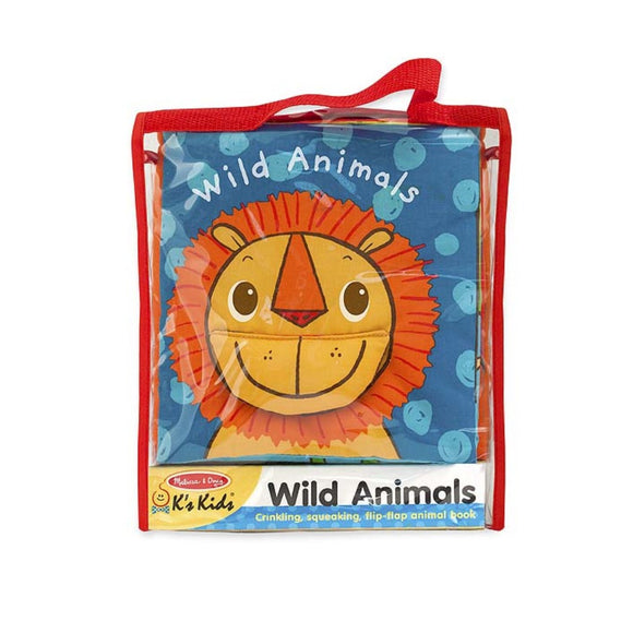 Melissa & Doug Soft Activity Book Wild Animals
