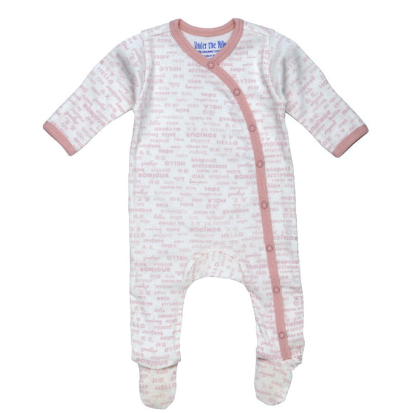 Newborn Side Snap Footie