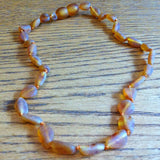 Baby Baltic Amber Teething Necklace - Raw Beans