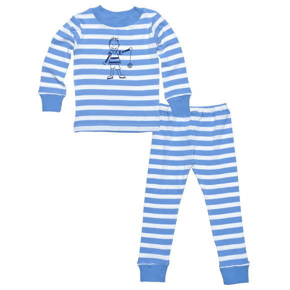 Kids Long Johns - Little People Blue
