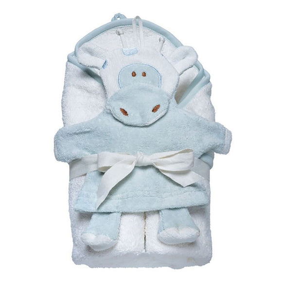 Hooded Towel and Wash Mitt Set - Giraffe