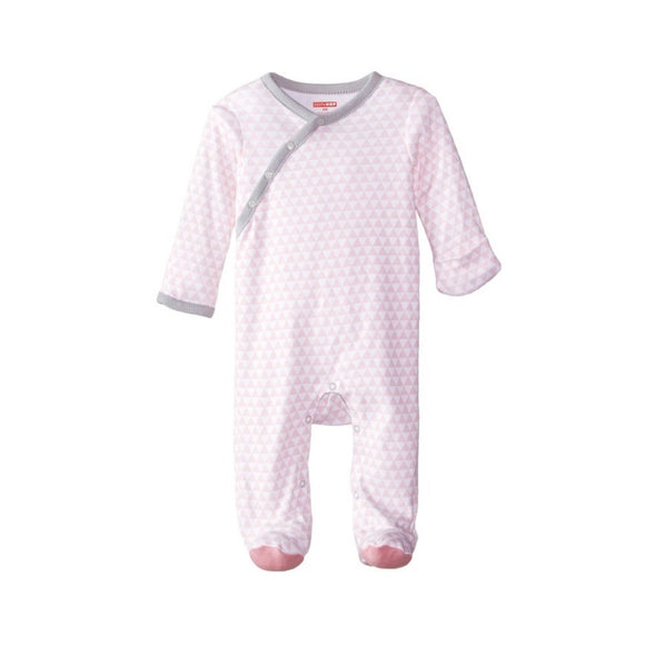Skip Hop Baby Petite Triangles Side Snap Footie - Pink
