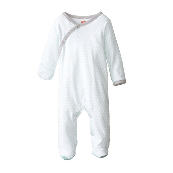 Skip Hop Baby Petite Triangles Side Snap Footie - Blue