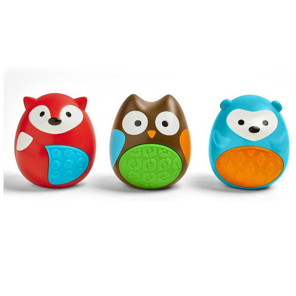 Skip Hop 3 Piece Explore and More Egg Shaker Toy