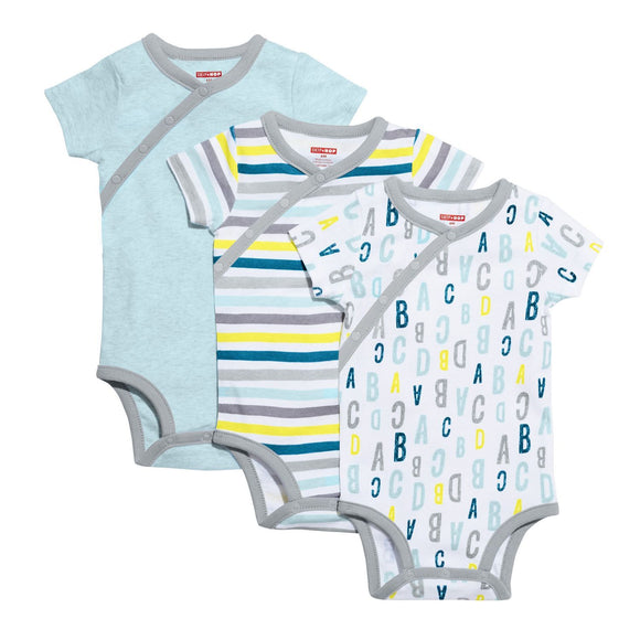 ABC-123 Short Sleeve Bodysuit Set - Blue