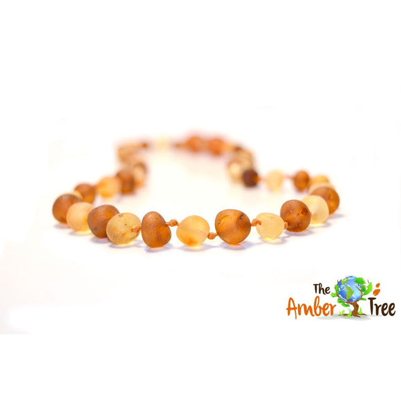 Caramel Latte RAW Baltic Amber Necklace