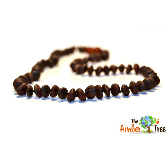 Mocha RAW Baltic Amber Necklace