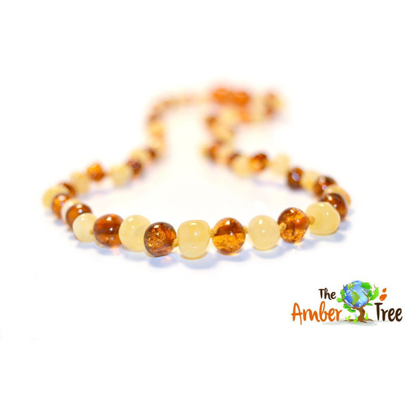 Polished Vanilla Latte Baltic Amber Necklace