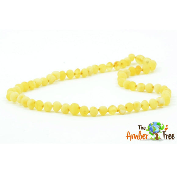 Vanilla RAW Baltic Amber Necklace