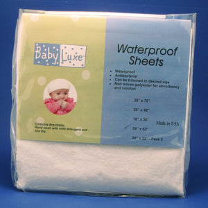 "Babyluxe Fitted Waterproof Crib Sheet - 28"" x 52"""