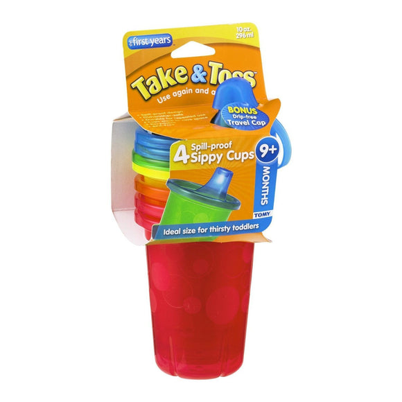 The First Years Take & Toss Sippy Cups, 10oz - 4 ct