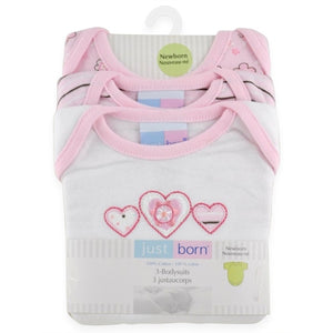 Just Born Bodysuits, 3 pk