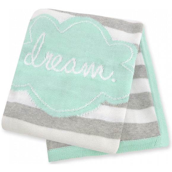 Just Born Double Knit Jacquard Sweater Knit Blanket
