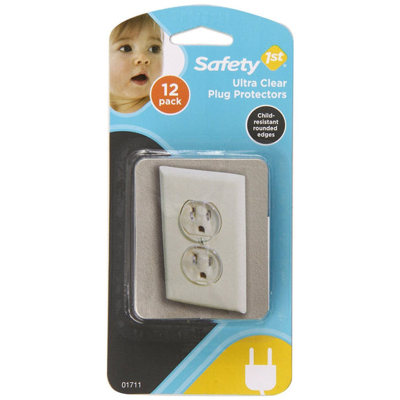 Safety 1st Ultra Clear Outlet Plugs - 12pk