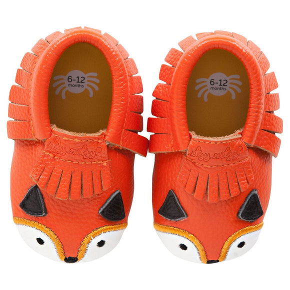 Moc Happens Leather Baby Moccasins- Little Fox