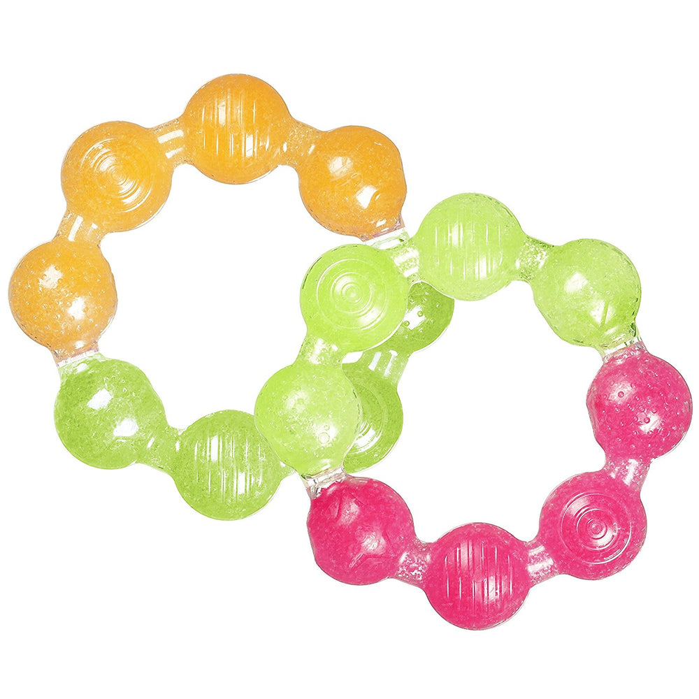 Munchkin Fun Ice Ring Teether Toy, 2pk - Assorted Colors