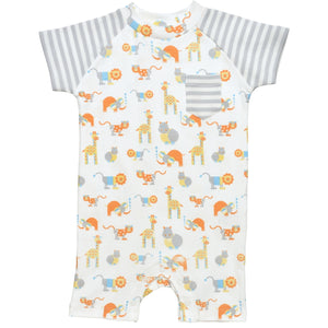 Under the Nile Romper- Safari Print