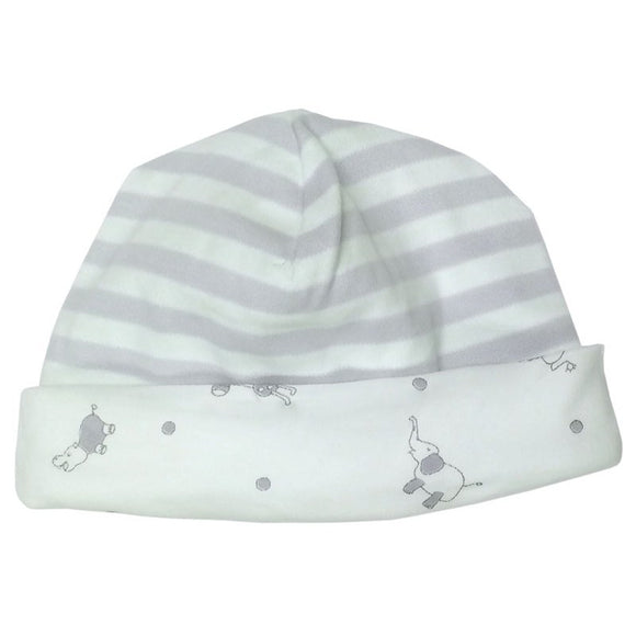 Under the Nile Beanie- Grey Stripe