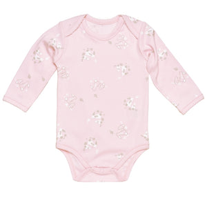 Under the Nile L/S Lap Shoulder Babybody - Bunny Print