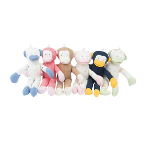Under the Nile Baby Toy Scrappy Monkey Stuffed Animal 12 Pack 7""